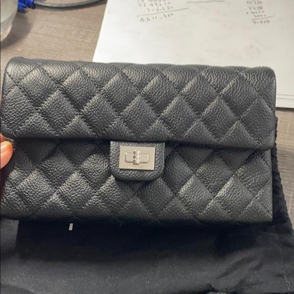 CHANEL Handbags - Chanel black cavier skin belt bag